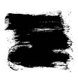 expressive square textured black ink stain vector image vector image