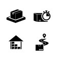 fast shipping delivery simple related icons vector image vector image