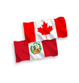 flags canada and peru on a white background vector image
