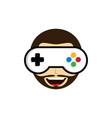 game guru - master gamer - video game theme logo vector image