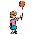 girl with balloon vector image vector image