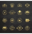 Gold vintage bakery badges labels and logos vector image vector image