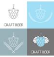 hop and barley emblem icon label logo beer pub vector image vector image