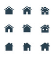 houses icons set real estate signs home page vector image