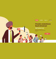 indian business people holding megaphone public vector image vector image