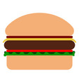 Isolated cheeseburger icon