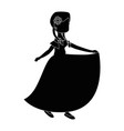 isolated peasant woman dancing vector image vector image