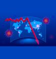 isometric global economic impacts 2020 vector image