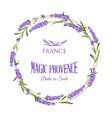 lavender elegant card with frame flowers vector image vector image