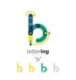 Letter logo line concept vector image