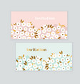 luxury gold and pastel green spring flowers vector image vector image