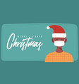 merry and safe christmas african man in santa vector image vector image