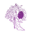 mistyc elf princess queen night vector image