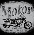 motorcycle racing typography graphics old school vector image
