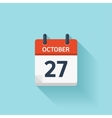 October 277 flat daily calendar icon vector image vector image