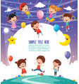 of children background vector image