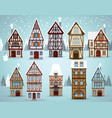 old european houses winter vector image