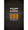 school poster pencils vector image vector image