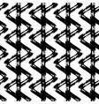 seamless pattern with brush stripes and vector image vector image
