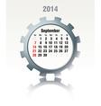 September 2014 - calendar vector image vector image