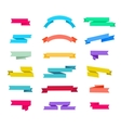 set of retro ribbons isolated vector image vector image