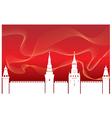 Silhouette Kremlin vector image