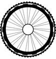 silhouette of a bicycle wheel vector image vector image