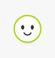 smiling face good customer review and emotional vector image vector image