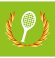 tennis sport olympic blue badge vector image