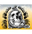 the grateful skull illustration vector image vector image
