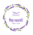 the lavender elegant card with frame of flowers vector image vector image