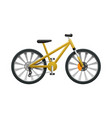 transport isolated yellow modern sport bicycle vector image vector image