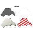 Tuolumne County California outline map set vector image vector image