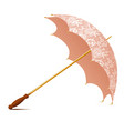 vintage accessory umbrella with white laces vector image