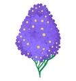 Violet hydrangea icon cartoon style vector image vector image