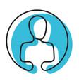 watercolor circular emblem silhouette of human vector image vector image