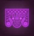 welcome neon sign decorative papel picado card vector image vector image