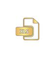 XLS computer symbol vector image vector image