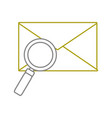 yellow line e-mail letter message with magnifying vector image