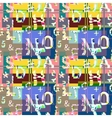 Glitch distortion seamless pattern vector image