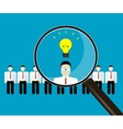 concept of human resources management finding vector image