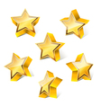 3d star set vector image vector image