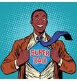 African American joyful super dad vector image vector image