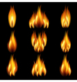 background with flames vector image vector image