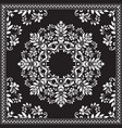 bandana clipart black and white bandana silk vector image