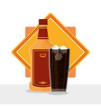bar drinks concept vector image vector image