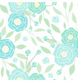 blue flower background vector image
