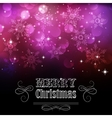 Christmas snowflkes background vector image