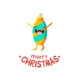 christmas toy cheerful card vector image vector image