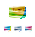 Cloud speech bubble abstract sign vector image vector image